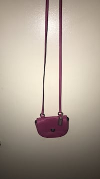 purple and black leather crossbody bag Springfield, 62704