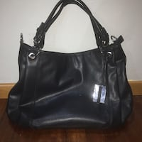 borsa nera in pelle hobo