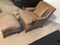 Leather chair & ottoman set Chantilly, 20152