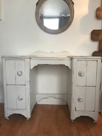 White Rustic Antique Desk Circa 1930's