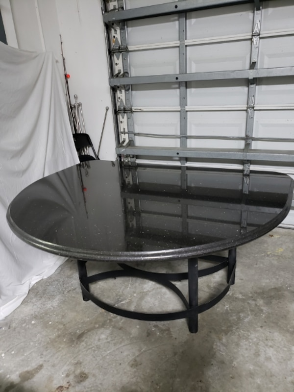 Half Moon Entryway Table With Marble Top