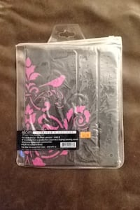 black and pink floral Glam iPad case pack