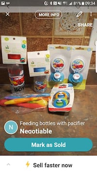 clear plastic feeding bottles with pacifier pack s Laval