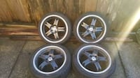 """Enkei 17"""" wheels with tires, light weight rims OBO Vancouver"""