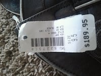 white and black product label