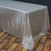 Sequins silver tablecloth  543 km