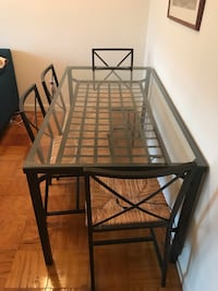 black metal framed glass top table Arlington, 22202