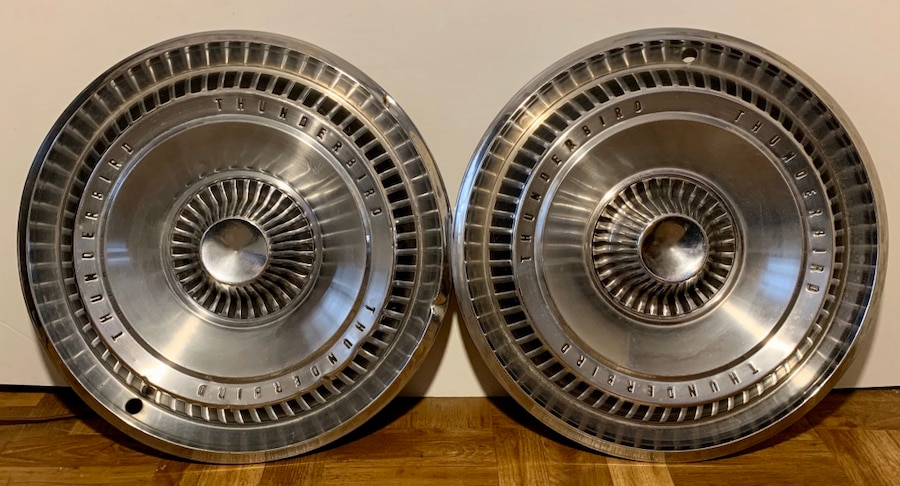Photo Pair of 1965 Ford Thunderbird 15 Hubcaps