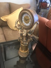 brass and white table lamp Houston, 77036