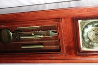 brown wooden framed electric fireplace < 1 mi