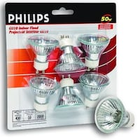 Brand new 6x Philips GU10 Indoor Flood Halogen 50w Montréal, H8Z 3H8