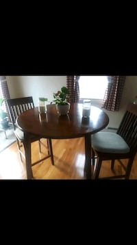 High top solid wood table