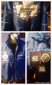 Maple leafs champions bomber jacket