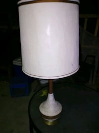white and brown table lamp 1914 mi