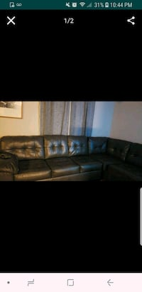 black leather sectional couch screenshot Magna, 84044