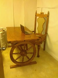 brown wooden table with chair Calgary, T3J 1S7