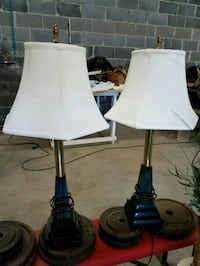 two black-and-white table lamps Morristown, 37813