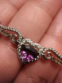 silver-colored pendant with purple heart gemstone Abbeville, 70510