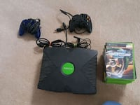 black Xbox Original console with controller and game cases Frederick, 21702