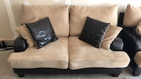 Light-brown suede 2-seat couch Chantilly, 20152