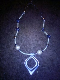 silver and blue beaded necklace Fresno, 93706