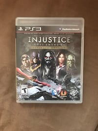 Injustice Gods Among Us PS3 game case North Dartmouth, 02747