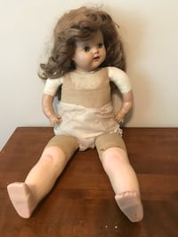 white and brown dressed porcelain doll Grayson, 30017