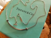 18k white gold tiffany and co smile necklace  Fort Lauderdale, 33301
