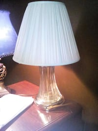 clear glass base white shade table lamp Tulsa, 74115