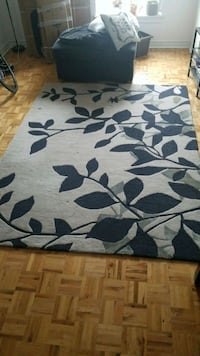 white and black floral area rug Toronto, M6H 4K2