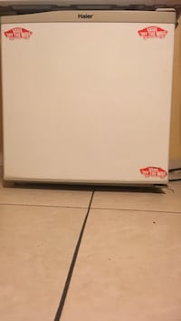 White and gray haier compact refrigerator Bakersfield, 93307