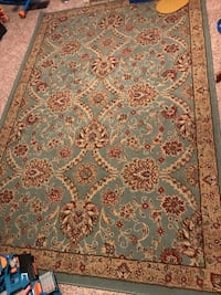 Blue and red floral area rug Edmond, 73034