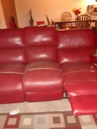 red leather 3-seat recliner sofa Westland, 48185