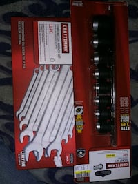 Craftsman combination wrench wrench set 11 piece and Craftsman socket