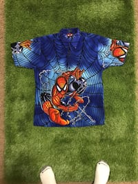 Auth 2001 Marvel comics Spider-Man golf shirt