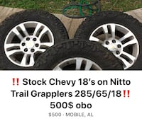 18' Stock Chevy wheels on 285/65/18 Nitto Trail Grapplers