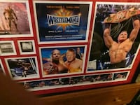 Brock Lesnar signed wrestlemania 33 plaqu Richmond, 94804