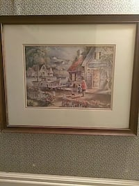 brown wooden framed painting of house Fort Smith, 72901
