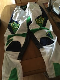 white, green, and black Fox racing pants Keswick, L4P 3Y3