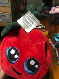 red animal plush toy Hampton, 23666