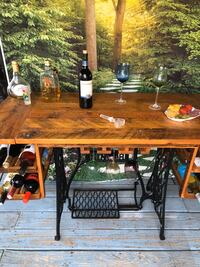 Unique one of a kind of wine table