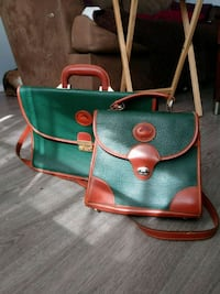 green and brown leather tote bag El Paso, 79925