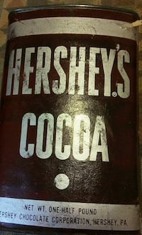 Hershey's Cocoa can