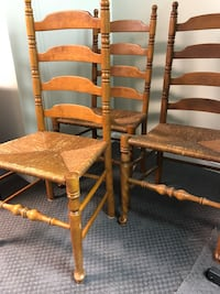 Four brown wooden windsor chairs Laurel, 20723