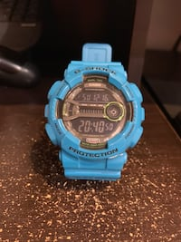 Round blue and black casio g-shock digital watch Kearny, 07032