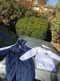 On the left is a Parka and on the right is a Penn State windbreaker