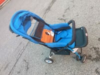 baby's blue and black car seat carrier Toronto, M9W 5Z3