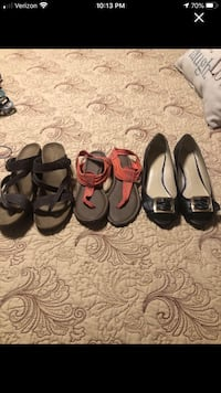 Shoes size 9.    All 3 for 5.00