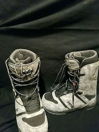 pair of black-and-white Fox racing boots Provo, 84606