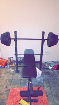 Weight bench and weights Cincinnati, 45205
